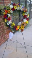 The Bloom Closet's Mixed Flower Wreath