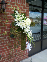 The Bloom Closet's All White Moss Covered Cross