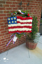 The Bloom Closet's American Flag of Flowers Standing Spray