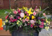 The Bloom Closet's Mixed Flower Casket Spray