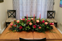 The Bloom Closet's 3 dozen Multi Color Rose Extra Large Centerpiece