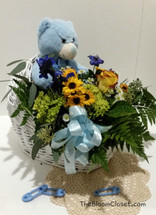 TheBloomCloset.Com Baby Boy Bassinet Flowers