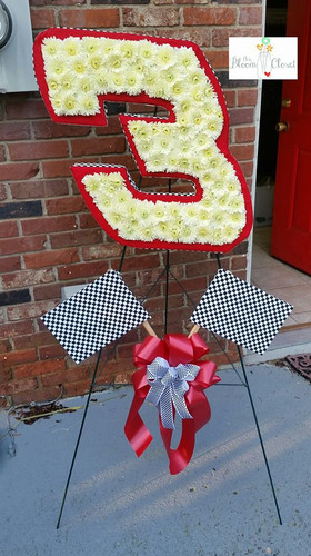 The Intimidator Race Car Tribute from The Bloom Closet Florist in Evans, GA