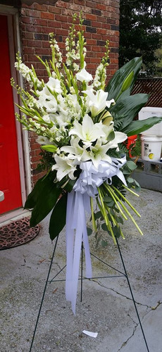 All White Spray from The Bloom Closet in Augusta, GA