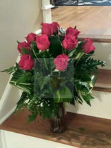 The Bloom Closet's Cylinder Red Roses