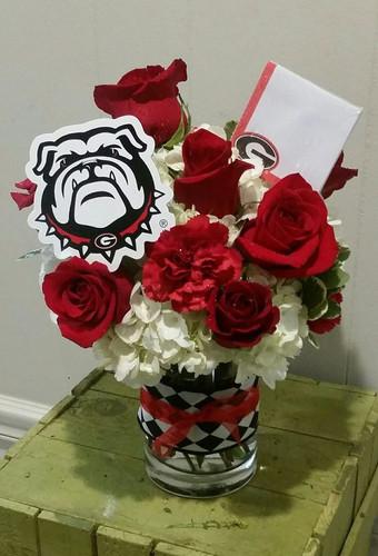 UGA Bulldog Flowers from The Bloom Closet Florist.