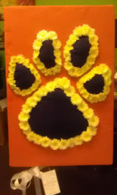 Clemson Paw Square Design