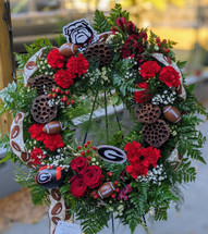 The Bloom Closet's UGA Tribute Wreath