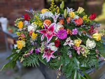 The Bloom Closet Summer Colors Casket Spray *New Design*