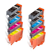 10-Pack Compatible Ink w/ Chip for Canon PGI-220/CLI-221