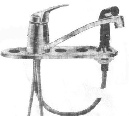 American Standard Fiesta Triple Bowl Faucet 4201-0184