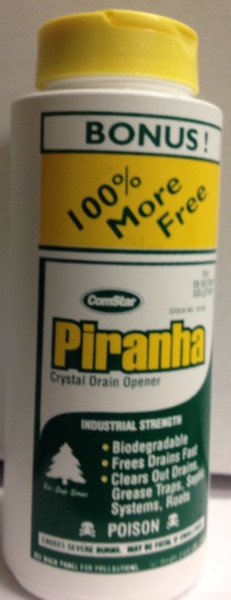PIRANHA CRYSTAL DRAIN OPENER