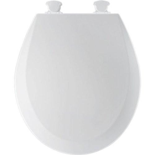 Bemis 500EC000 Molded Wood White Round Toilet Seat
