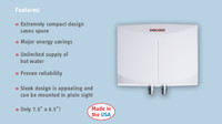 Stiebel Eltron Mini 4 Tankless Electric Water Heater - 220 Volt