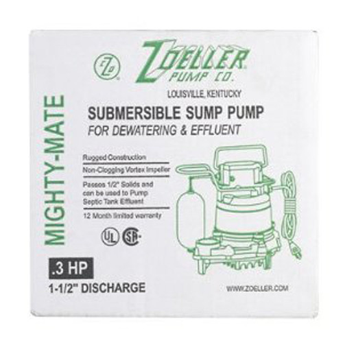 Zoeller M57 Basement High Capacity Sump Pump