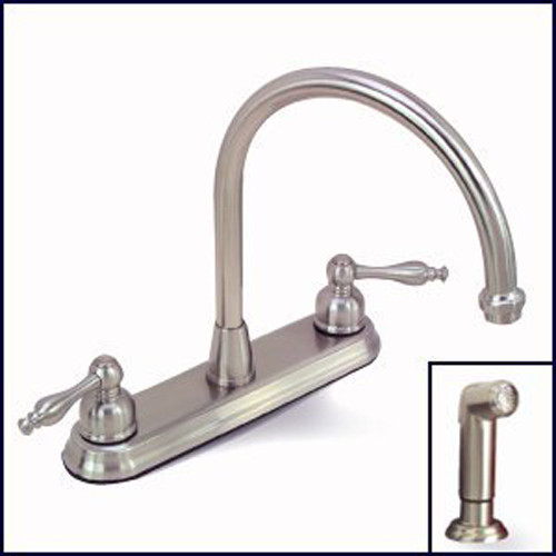 Premier Wellington 120163 Brushed Nickel Kitchen Faucet with Sprayer