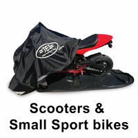 TES Covers Medium Cover for Honda Grom, Kawasaki Z125, Scooters, and other smaller bikes