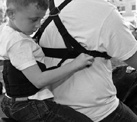 Moto-Grip Passenger Safety Harness with Moto-Grip Jr.