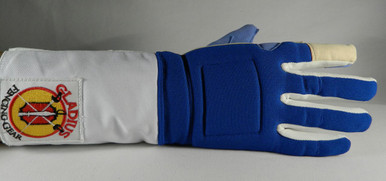 Epee Glove, Outside view of the glove it is designed for a perfect fit. It is made with soft artificial leather fabric on the palm and thumb