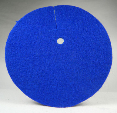 Saber Fleece Pad for the inside of the bell guard blue