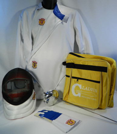 Complete Women's Epeé 7-piece fencing equipment set needed to learn to fencing from the beginning lesson to getting ready to Compete:  Epeé Fencing Mask - 800N Mesh, 350N CE bib Women's Fencing Jackets - 350N CE made with Dyneema and polyester blend material Women's Fencing Knickers (Pants)- 350N CE made with Dyneema and polyester blend material Women's Fencing Plastron (Underarm Protector)- 350N CE made with Dyneema and polyester blend material Epeé Fencing Glove Electric Weapon assembled to meet the desire of the fencer An A-shape Single Layer carry bag to carry all your equipment. Made of heavy duty nylon with a heavy duty zipper and  two pockets for storage.  All gear is 350N certified and meets requirements for competition at the local and national level tournaments.  **Note: Chest Protector is MANDATORY for girls and women when fencing in tournaments (optional for boys and men), but is highly recommended to wear it whenever you are actually fencing, even practicing, with another person.  Chest Protectors may be purchased with BestValue set at a discounted price.