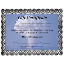 Atomic Gift Certificate
