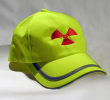 Yellow Cap with Red Radiation Symbol