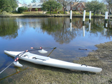 sculling boat - Edon TS515 training scull. The most affordable single scull on the market