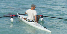Learn to scull - Edon Single scull - ideal for learning to scull or for recreational rowing. robust and easy to use, fast fun and a lot of fun