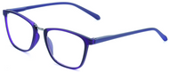 full plastic frame blue reading glasses
