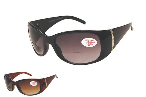 Carrie Bifocal Sun Reader Black Amber