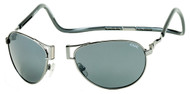 Clic Aviator Polarized Sunglass Xl-Silver