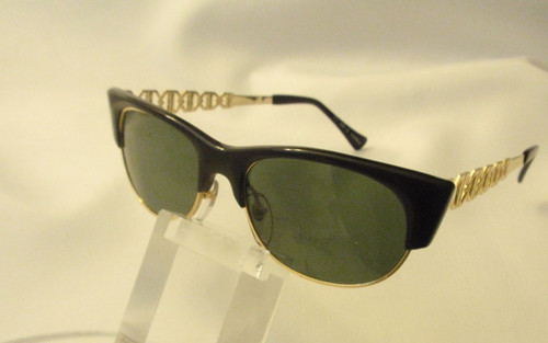 vintage sunglasses black and gold