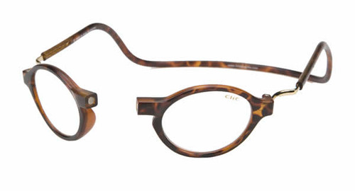 Clic Magnetic Reading Glasses Classic Round Standard TORTOISE