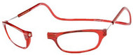 Clic Magnetic Reading Glasses Red Standard