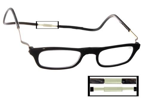 0278be23ac Clic Magnetic Reading Glasses XL Expandable Black - EyeNeeds