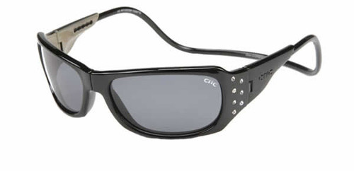 Clic Monarch Polarized Sunglass Blk/Stones Womens
