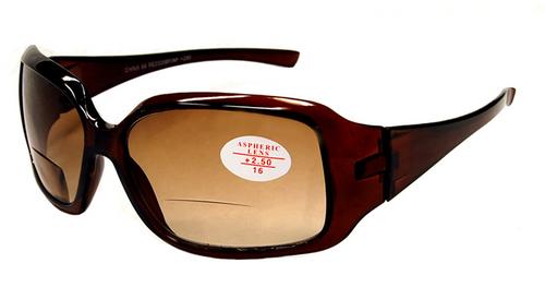 Sophia Bifocal  Sun Reading Glasses Women/ Amber