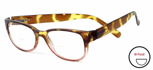 Emily Bifocal Reading Glasses By Calabria / Women TORTOISE/PINK