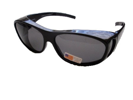 Polarized Over Your Eyeglasses Black/Medium