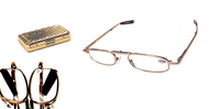 Folding Traveler Reading Glasses/Gold/Silver