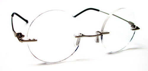 Harry Rd Rimless Reading Glasses /Gunmetal