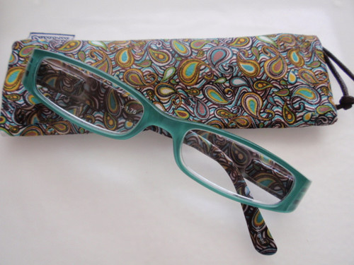 Isabella Teal Women's plastic Reading Glasses