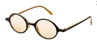 Oval Retro Computer Reading Glasses/Blk-Honey
