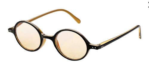Oval Retro Computer Reading Glasses/Blk-Honey