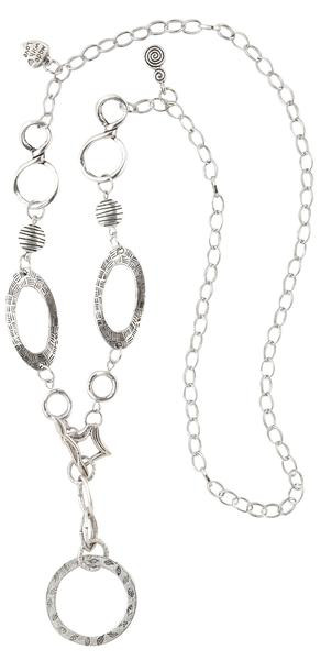phoenix silver eyeglass  holder necklace