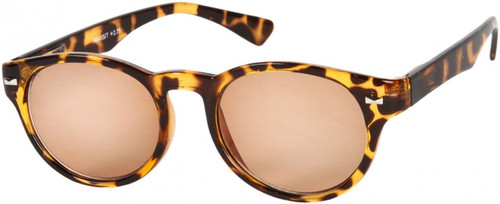 Retro Rd Full Sun Reading Glasses /Amber
