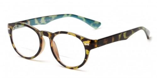 Retro Rd Bifocal  Reading Glasses/Teal