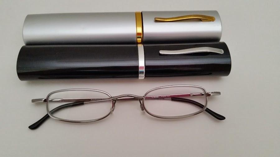 0228fb77a4b SD Tube Reading Glasses   Silver-Gunmetal - EyeNeeds