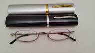 SD Tube Reading Glasses / Silver-Gunmetal